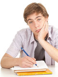 Tired young male student Royalty Free Stock Photo