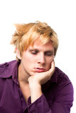 Tired Young Man Stock Photo