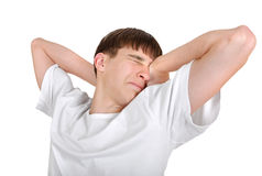 Tired Young Man Stock Images