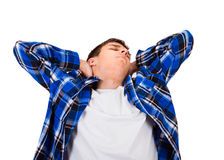 Tired Young Man Royalty Free Stock Photography