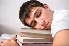 Tired Student sleeping Royalty Free Stock Photography