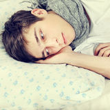 Tired Young Man Stock Image