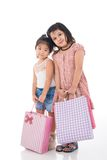 Tired young shoppers Royalty Free Stock Image
