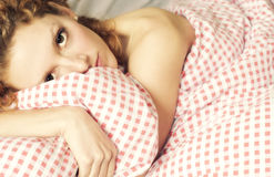 Tired Young Woman Royalty Free Stock Photos