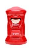 Tirelire de courrier avec la pièce de monnaie Photos libres de droits