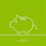 Tirelire de porc d'icône Photo stock