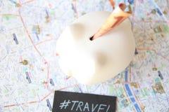Tirelire de voyage Image libre de droits
