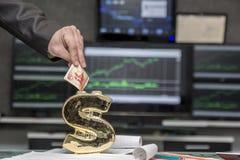 Tirelire du dollar Image libre de droits