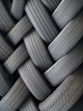 Tires. Old tires piled in a heap Stock Photography