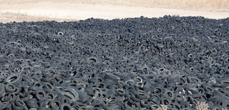 Tires. A huge amount of old tires Stock Image
