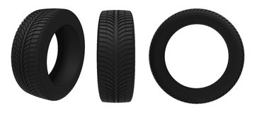 Tires. Car tire on a white background royalty free illustration