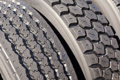 Tires. Close-up of new tire profiles Royalty Free Stock Photography