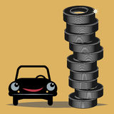 Tires Royalty Free Stock Images
