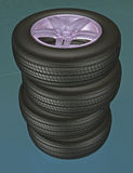 Tires 3d royalty free stock photos