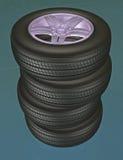 Tires 3d royaltyfria foton