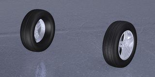 Tires 3d Royalty Free Stock Images