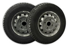 Tires. Two old tires Royalty Free Stock Photography