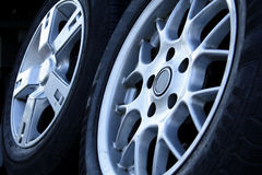 Tires. And wheels Stock Images