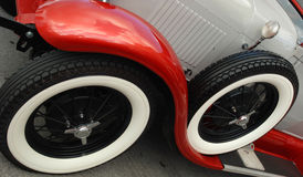 Tires of antique car Royalty Free Stock Image