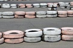 Tires on the autodrome Royalty Free Stock Photography