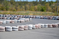 Tires on the autodrome Royalty Free Stock Images