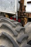Tires from big rig semi tractor with a large tractor protector s. The tires, rims or other parts of big rig semi trucks are given great importance since trucks stock photo