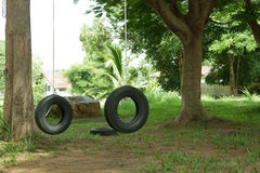 Tires Boy Scout camp. Tires are taken as the training Scouts Stock Photos
