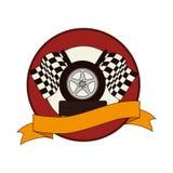 Tires car emblem icon. Illustration design Stock Image
