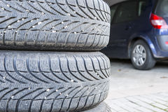 Tires of a car Stock Photography