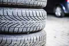 Tires of a car Stock Photos