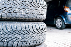 Tires of a car Royalty Free Stock Photography