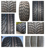 Tires compilation Royalty Free Stock Photography
