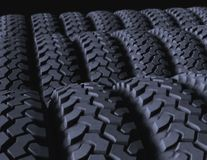 Tires on display Royalty Free Stock Image