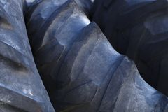 Tires heap recycling dump waste old rubber automobile waste. Tires for recycling used scrap rubber waste royalty free stock images