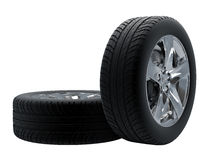 Tires isolated Royalty Free Stock Photos