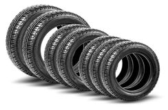 Tires isolated on the white background Royalty Free Stock Images