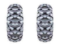 Tires isolated on white background. Royalty Free Stock Photography