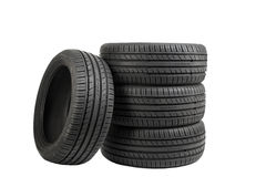 Tires isolated on white, special color effect Stock Photography