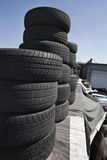 Tires In Junkyard Royalty Free Stock Photos