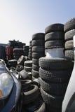 Tires In Junkyard Royalty Free Stock Photo