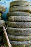 Tires in Junkyard Royalty Free Stock Photos