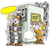 Tires Machine goes amok Stock Photos