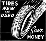 Tires New And Used Stock Photography