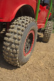 Tires of the offroad car Royalty Free Stock Photography