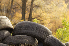 Tires  old  abandoned Stock Images