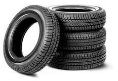 Tires On The White Background Royalty Free Stock Photos