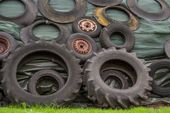 Tires on a pile Stock Photo