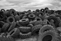 Tires pile-up Royalty Free Stock Photography