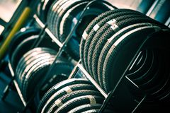 Tires Rack Royalty Free Stock Images