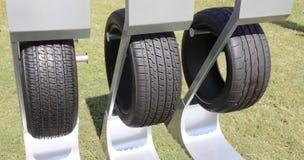 Tires on a Rack Stock Photos